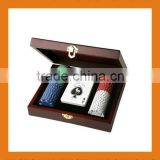 Wooden Poker Chips Set With Low Price