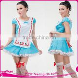 Wholesale Adult Light Blue Carnival Beer Female Costume Dress