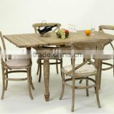Antique style Solid oAk Wooden Dining Table /Extensible Conference Table (DT-515F-OAK,90CM)
