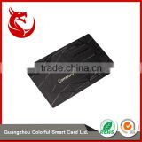 Fashional designe unique electroplated metal travel titanium black card                                                                         Quality Choice