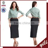 readymade garments wholesale market Women's Long Chino straight Skirt