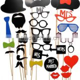 Mask Paper Photo Props 30th Birthday Party Decorations