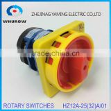 Rotary switch HZ12A-25/01 Cam Changeover switch 2 Position on-off AC380V 20A-32A emergency stop padlock combination switch