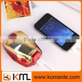 Universal Transfer 5500mah portable capacity cell phone iron man power bank for lenovo,iphone,tablet
