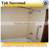 hotel tub surrounds, granite tub surround, cultured marble tub surrounds, solid surface shower tub surrounds