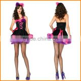 Halloween cosplay costume clothes COS cute kitten with demon Princess Dress studio portrait shooting suit