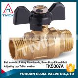 brass stem iron nut male NPT thread 1/2 3/4 1 inch high quality aluminum handle manual power nipple forged brass ball valve PN40                                                                         Quality Choice
