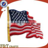 custom USA flag design country label computer embroidery patch biker                                                                         Quality Choice