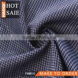 2014/2015 hot shaoxing China Cotton polyester Metallic checks fabric for latest women garment