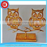 Wholesale lovely gold practical metal owl decor candle holder