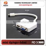 Mini displayport to HDMI and vga adapter cable 20cm