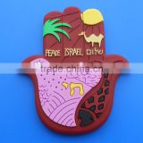 peaceful israel fridge magnet for different countries, palm gifts soft pvc fridge magnet