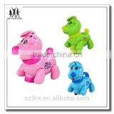 Children electronic dog with music and light, factory directly custom musical dog figure