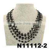women 2 color zinc alloy chunky chain link chain necklace