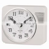 White dial touch LED light analog sweep alarm clock