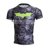 Marvel Men's Bat-man Pattern Tights Shirt Compression Fitness 3d Printed T Shirt Superhero Quick Dry Male Tops Brand Clothing