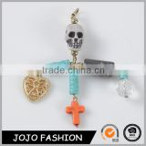 Costume Cross Jewelry Skull Natural Stone Heart Keychain