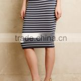 Simple style pictures fashionable tight skirts, yarn dye stripe pencil knit skirt for 201S woman SYA15252