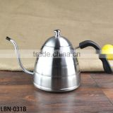 1.0Liter THERMOMETER Built-In Pour Over Coffee/1 Litre Stainless Steel Gooseneck Pour Over Kettle