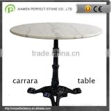 "36*36"" Bianco carrara white marble table top                                                                                                         Supplier's Choice"