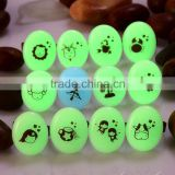 Trendy Signs of the Zodiac Luminous Stone Finger Rings OEM Images on Blue or Green Light Stones Pendant Rings