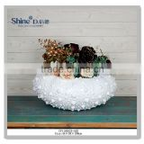 Delightful Coastal Decor Floral & Shells sea urchin dry flower vase                                                                         Quality Choice