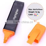 4.5'' plastic black flat barrel highlighter pen , blade point book markers