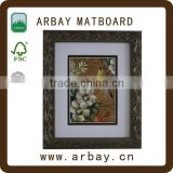 Wholesale wood MDF PS 5x7 8x10 11x14 picture photo frame with matboard