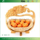 BK013/kitchen furniture bamboo folding box chinese modern bamboo kitchen basket grape shape food basket