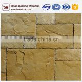 Rusty slate cultured stone wall cladding for construction decorative wall solid surface type