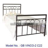 Simple Elegant Designs Bedroom Furniture Of Metal Bed, metal furniture, latest bed designs, new modern metal bed in black colour