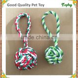 Pet supplies cotton rope toys dog colorful hand pulled balls rope toys Pet rope hand pull single ball toy