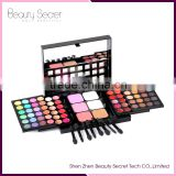 Professional 78 Colors Push-Pull Double-Deck Eyeshadow case, Lip Palette Concealer Contouring Kit Makeup Palette Cosmetics Set