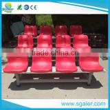 2016 sgaier aluminum stadium bleachers with red color plastic chairs