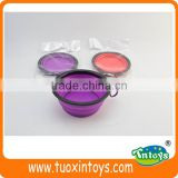 silicone/silica gel dog bowl with hook, pet feeder product, promotional gifts