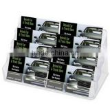 4-tier polished acrylic business card holder