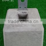 Concrete deck pier blocks for foundation
