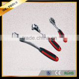 OK-tools China Manufacturer chrome-molybdenum 72T Ratchet Wrench with Bend & flat handle