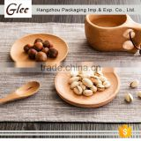 Modern customzied healthy modern kitchen designs Disposable Palm Leaf Wooden Plate for Party wooden tray