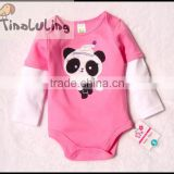 top selling baby winter clothing,infant and toddler Panda animal bodysuits organic cotton baby rompers