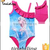 wholesale china factory girls swimwear fabric children sportwear, kids one piece swimsuits