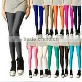 new hot Sale Faux Leather High Waist Leggings Stretch PU Material Pants Ladies Fashion Leggings