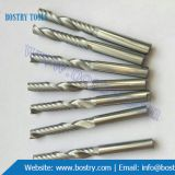 Solid Carbide single flute spiral end mill milling cutter wood plastic cnc router bits cnc tool bits