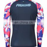 OEM sublimation printing surf rashguard women black rashguard