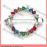 Hot wholesale nipple ring with muilt color crystal body piercing jewelry