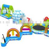 2015 AOQI new design fun arctic 10 in 1 inflatable water game for aumusement park