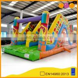 Colourful playground inflatable obstacle course, inflatable amusement park for kids