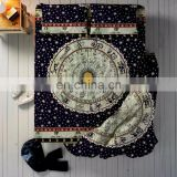 Astrology Mandala Duvet Cover Bed sheet With 2 Pillow Cover full Set Queen Size Bedding Full Set Black Green