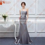 Hot Sale Bridesmaid Dresses Satin Mermaid Beaded Cheap Brides Maid Dress Under 100