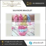 Beautiful Silk Cord Twisted Rope Bracelet at Affordable Price